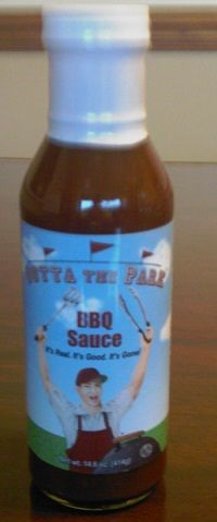 1st bottle EVER of Outta the Park BBQ Sauce ~  August 13, 2009  It's Real. It's Good. It's Gone!