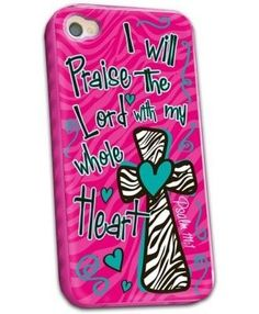 Pink Praise The Lord - Christian iPhone 4 Case