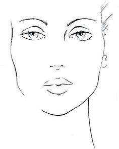 Fashion illustration face template art New Ideas Face Stencils, Stencil Art, Fashion Sketches, Art Sketches, Art Drawings, Fashion Illustration Face, Makeup Face Charts, Face Template, Figure Sketching