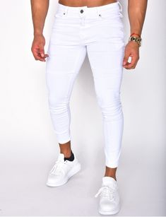 Jeans homme pas cher, jeans Redskins, jean Sixth June - Jeans Industry Casual Outfits, Men Casual, Fashion Outfits, Jeans Pants, Shorts, Men Clothes, Mens Clothing Styles, White Jeans, Streetwear