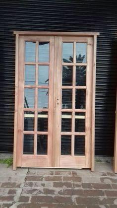 puertas dobles hojas de madera