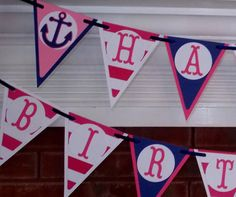 Nautical Banner READY To SHiP HAPPY BiRTHDAY by APaperPlayground