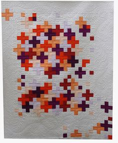 """Really nice layout and color choices in this """"Crosses Quilt"""" by Karen Terrens."""