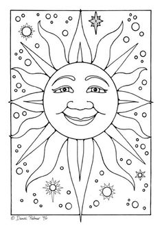 Sun More Coloring Sheets For Kids Embroidery Patterns Coloringpages
