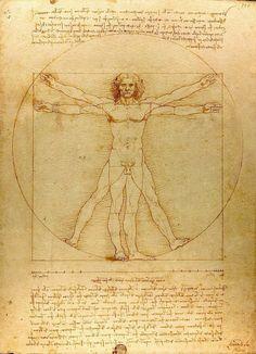 Витрувианский человек Леонардо да Винчи иллюстрировал пропорции «идеального» человека, описанного Витрувием в Книге III его знаменитого трактата – «Десять книг об архитектуре», – пропорции, которые, по его утверждению, также служили основой классических ордеров.