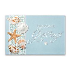 Season's Greetings From The Beach Holiday by PineAndBerryShop