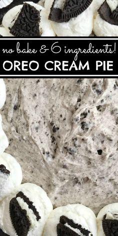 Easy No Bake Desserts, Homemade Desserts, Healthy Dessert Recipes, Vegan Recipes Easy, Oreo Desserts, Bakery Recipes, Tart Recipes, Cooking Recipes, Oreo Cream Pies