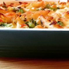 Pasta bake with shrimp! YUM!