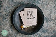 bridesmaid ask cards | #madeinthefold photo by kaitie bryant photography