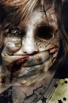 extreme scary makeup | Very Scary Halloween Make Up Ideas For Girls 2013 2014 1 Very Scary ...