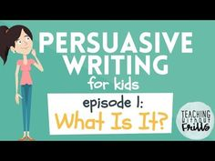Persuasive Writing for Kids: Planning & Pre-writing What Is Persuasive Writing, Paragraph Writing, Persuasive Essays, Opinion Writing, Essay Writing, Writing Rubrics, Writing Genres, Writing Strategies, Writing Lessons