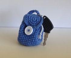 Mini crocheted backpacks