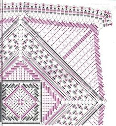 – Katrin Rakowski – # YandexFo … - New Ideas Crochet Doily Diagram, Crochet Motif Patterns, Crochet Ripple, Crochet Blocks, Crochet Chart, Crochet Squares, Thread Crochet, Crochet Mandala, Crochet Cushions