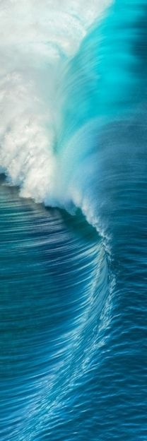 beautiful blue wave