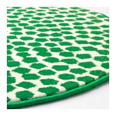 FLÖNG Rug, low pile, white, green - IKEA