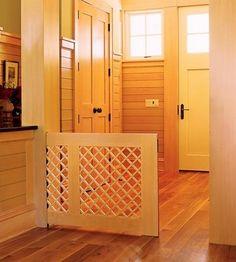 custom wood and lattice pet pocket gate - Atticmag v Custom Home Online