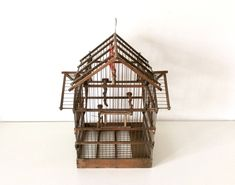 A personal favourite from my Etsy shop https://www.etsy.com/listing/586524301/mid-century-wooden-bird-cage-bird-house