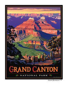 Grand Canyon National Park, Giclee print.