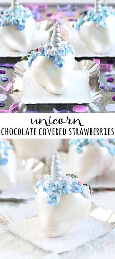 Transform strawberries into magical uniberries with our Unicorn Chocolate Covered Strawberry tutorial! | wwww.bakerspartyshop.com