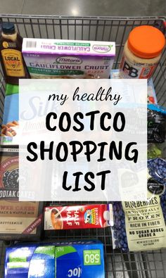My Healthy Costco Shopping List - Healthy Liv Costco Shopping List, Costco Finds, Healthy Shopping, Grocery Lists, Grocery Store, Healthy Freezer Meals, Good Healthy Snacks, Freezer Cooking, Cooking Tips