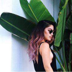 @marycake hair is fading so beautifully #jesstheebesttcolor #ombre #purpleombre #pinkombre #balayage #pravana #olaplex #fallhair #pastelhaircolor