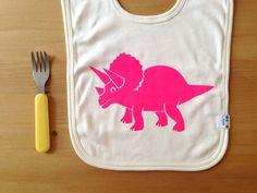 Baby Bib Dinosaur Dribble Bib Newborn Baby Gift by helloDODOshop