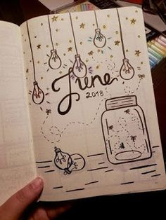 Bullet Journal Juni Titelseite Schöne Ideen und I. - to drawing bullet journal Bullet Journal Simple, Bullet Journal 2019, Bullet Journal Ideas Pages, Bullet Journal Inspiration, Journal Pages, Bullet Journal Ideas For Students, Journal Ideas For Teens, Bullet Journal Front Page, Bullet Journal Ideas Templates