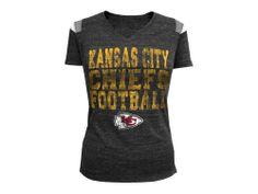 Kansas City Chiefs 5th and Ocean NFL Womens Sleeve Stripe Team T-Shirt