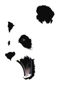 Panda *** pas de contours, place à l'imagination *** rendre visible les éléments les plus représentatifs/importants