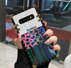 Luxury Girls Phone Cases Covers Fashionable Pink Leopard Spots Treasure Chest Style Gradient Color Tough Shockproof Unique Cool Galaxy S10, Galaxy S10 Plus, Galaxy S10e, Galaxy S9, Galaxy S9 Plus, Galaxy Note 9, Galaxy Note 8, | | Casefanatic