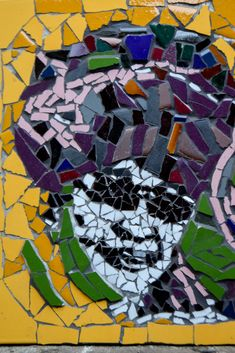 Colourful mosaic of Winnie Mandela