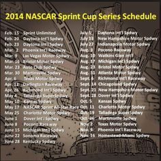 NASCAR 2014.  Can't wait to go to Vegas in March......