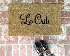 NEW Le Crib Doormat doormats rugs 18x30 outdoor mat by ShopJosieB