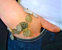 Bracelet from old coins - Kolikkokoru vanhoista markoista ja penneistä - Tuunausta ja tekeleitä