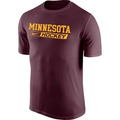Nike Men's Minnesota Golden Gophers Maroon Hockey Legend T-Shirt, Size: XXL, Team