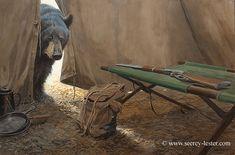 UNEXPECTED VISITOR    Not Just Wildlife Art of John & Suzie Seerey-Lester