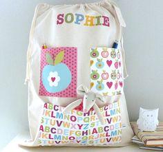 Girls Personalised Storage Bag (image)