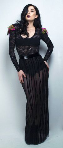 A WEEKEND IN HELL AW13 - WRATH MAXI SKIRT  £150.00