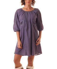 Another great find on #zulily! Blue Pocket Shift Dress #zulilyfinds