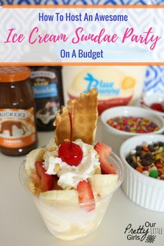 Try these simple tips to help you host an amazing ice cream sundae party on a budget. This dessert is a delicious summer treat!