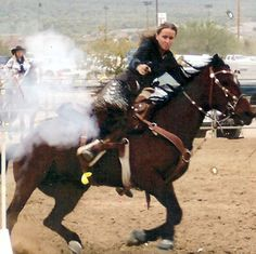 Kristin Barnes American Cowboy Mounted Shooting Association
