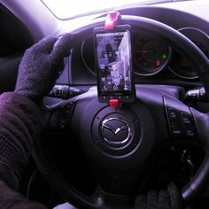 I wasn't impressed with this product.   Steering Wheel Smartphone Mount by GoSmart - $18