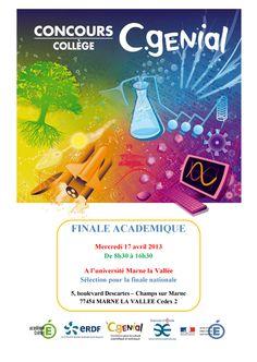 17/04/2013 : Finale académique du Concours C-Génial Collège