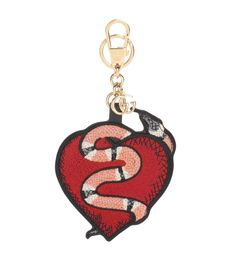 25ee74c2b472a Gucci Heart and Snake keychain Biker Leather