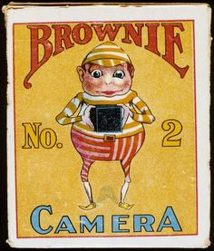 'Brownie No 2 Camera', illustration on Kodak Brownie camera box, c by . Museum quality art prints with a selection of frame and size options, canvases, postcards and mugs. Vintage Labels, Vintage Ads, Vintage Images, Vintage Posters, Vintage Graphic, Vintage Artwork, History Of Photography, Photography Camera, Vintage Photography