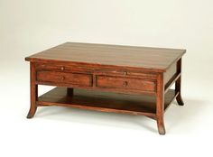 Bausman #  2923 COFFEE TABLE 54x42 x h20 your choice of finish. http://www.bausmanandcompany.com/items/item.php?id=3140