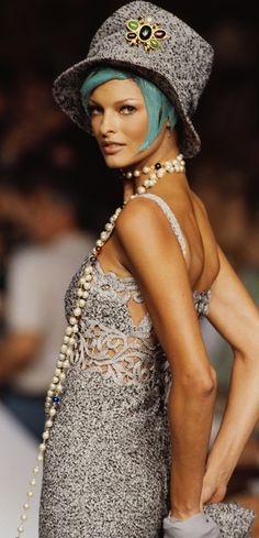 Classic Chanel never goes out of style, that's priceless fall 1992