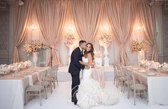 Floor to ceiling wedding backdrops & draping Toronto