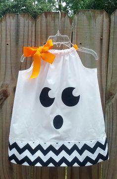 Halloween Ghost Pillowcase Dress - Newborn 3m 6m 12m 18m 2t 3t 4t 5t 6 on Etsy, $12.00