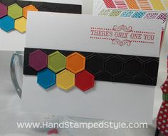 Honeycomb - Oh, Hello! cards - www.handstampedstyle.com